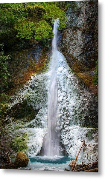 Frozen Marymere Falls Metal Print