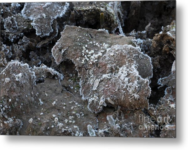 Frozen Mud Metal Print