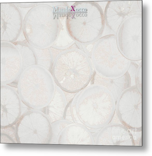 Frozen Orange Metal Print