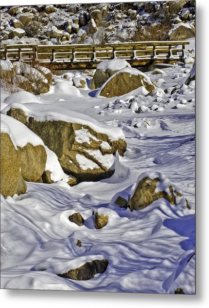 Frozen Roaring River Metal Print by Tom Wilbert