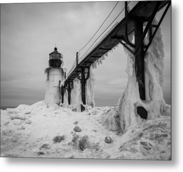 Frozen St. Joseph Lighthouse Metal Print