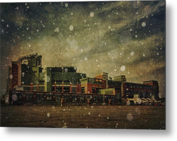 Frozen Tundra Part II - Lambeau Field Metal Print