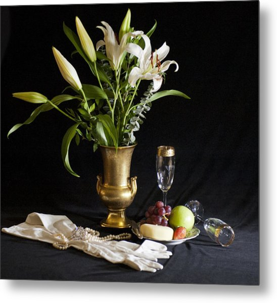 Metal Print featuring the photograph Fruit And Flowers by Rick Hartigan