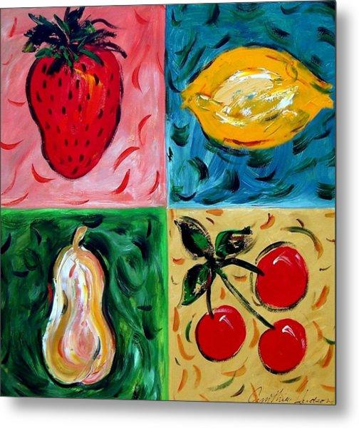 Fruit Ll Metal Print by Cynthia Hudson