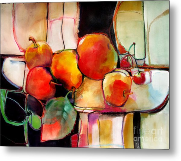 Fruit On A Dish Metal Print