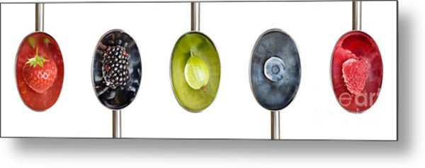 Fruit Spoons Metal Print