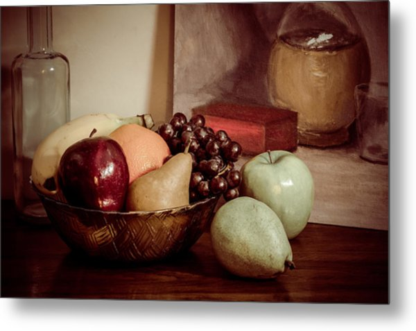 Fruit With Painting Metal Print