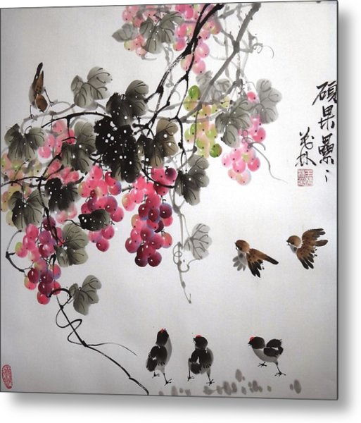 Fruitfull Size 4 Metal Print by Mao Lin Wang