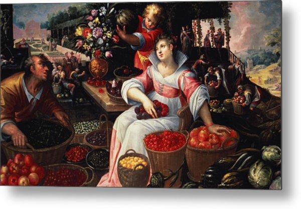 Fruitmarket Summer, 1590 Metal Print