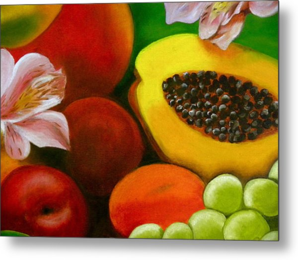 Fruits And Flowers Metal Print
