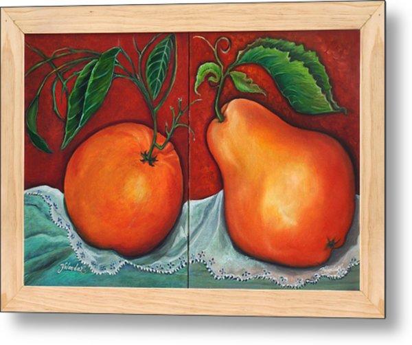 Fruits Pears Metal Print