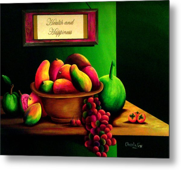 Fruits Still Life Metal Print