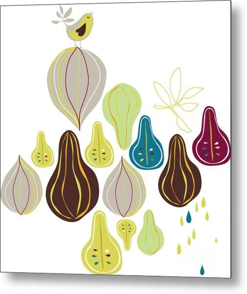 Fruits Wallpaper Metal Print