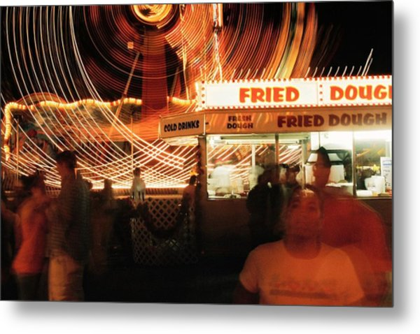Fryeburg Fair At Night  Fried Dough Metal Print by John B Poisson