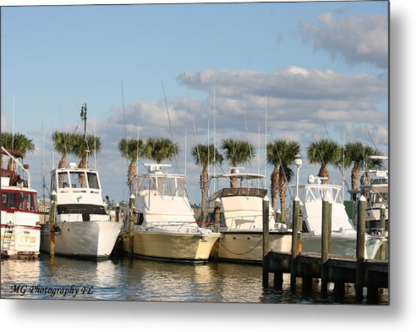 Ft. Pierce Marina Metal Print