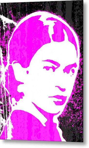 Fuchsia Frida Metal Print