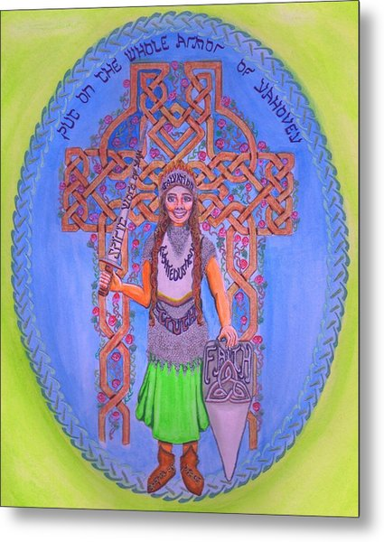 Full Armor Of Yhwh Woman Metal Print