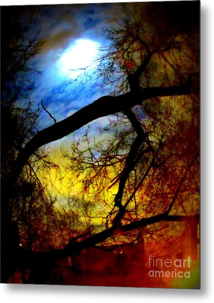 Full Crow Moon Metal Print by Maria Scarfone