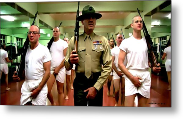 Full Metal Jacket 1 Stanley Kubrick 1979 Metal Print