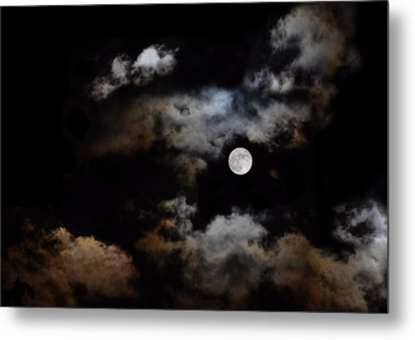 Full Moon After The Storm Metal Print