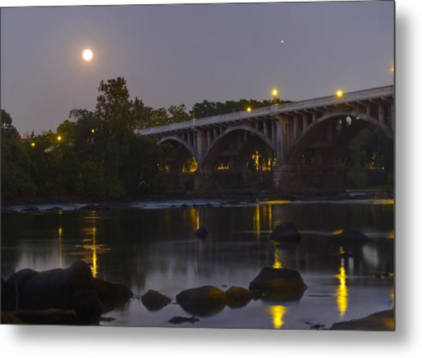 Full Moon And Jupiter-1 Metal Print