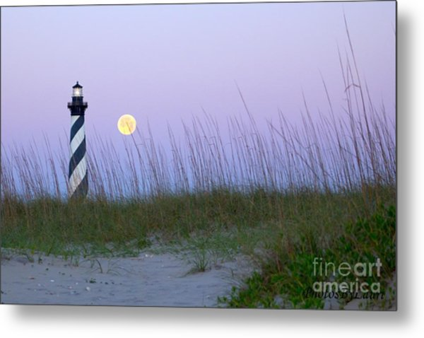 Full Moon At Hatteras Metal Print