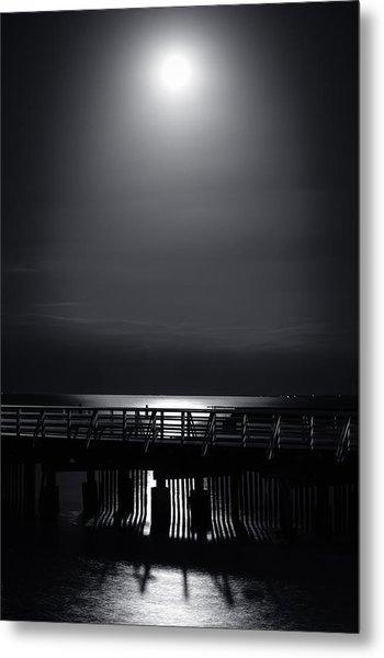Full Moon Over Bramble Bay Metal Print