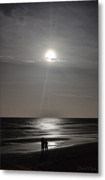 Full Moon Over Daytona Beach Metal Print