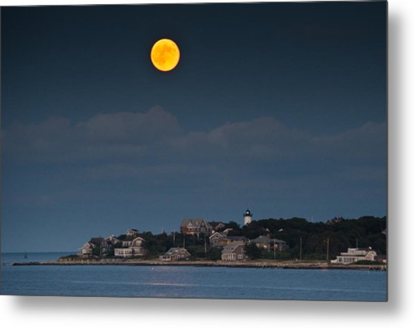 Full Moon Over East Chop Metal Print