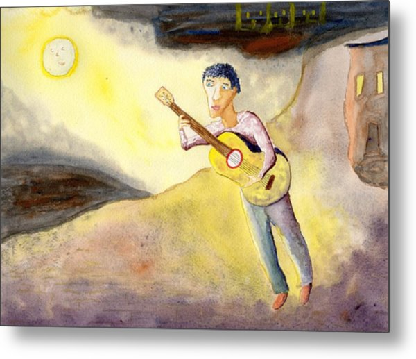 Full Moon Serenade  Metal Print