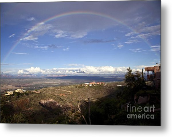 Full Rainbow Over Jerome Metal Print