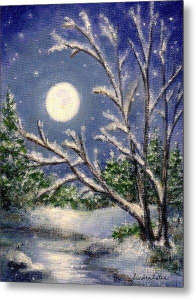 Full Snow Moon Metal Print