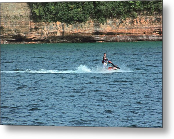 Fun At Pictured Rocks Metal Print