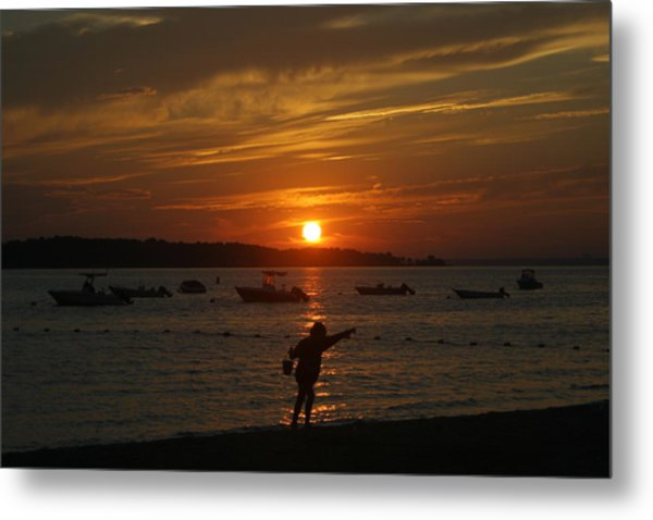 Fun At Sunset Metal Print