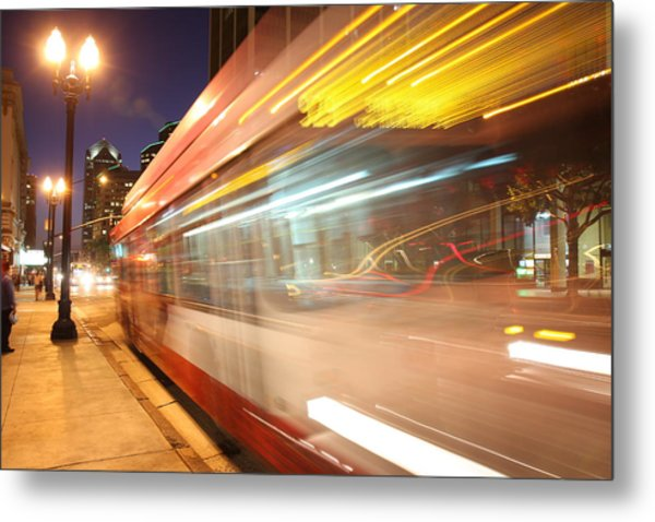 Fun At The Bus Stop Metal Print