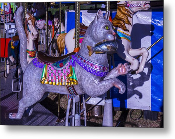 Fun Cat  Amusementt Ride Metal Print