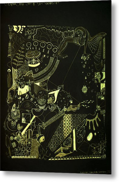 Function Form And Content Metal Print by Guillermo De Llera