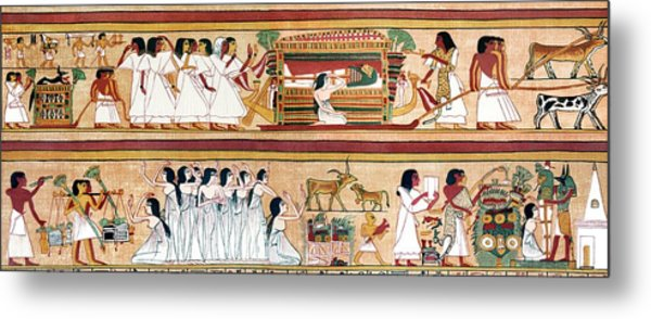 Funeral Procession Of Ani Metal Print by Sheila Terry/science Photo Library