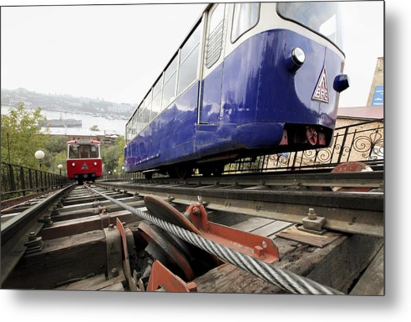Funicular Railway In Vladivostok Metal Print