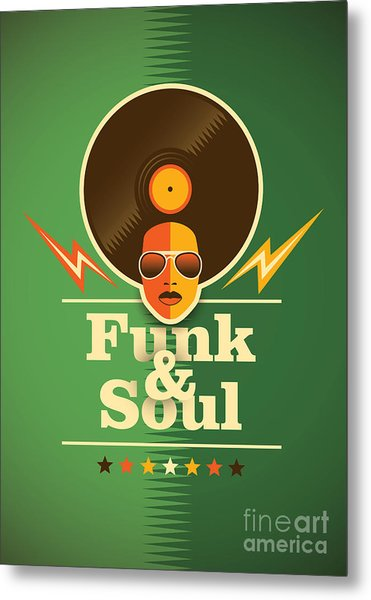 Funk And Soul Poster. Vector Metal Print