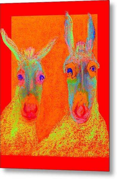 Funky Donkeys Art Prints Metal Print