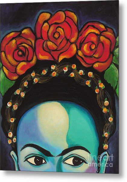 Metal Print featuring the painting Funky Frida by Carla Bank