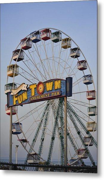 Funtown Ferris Wheel Metal Print