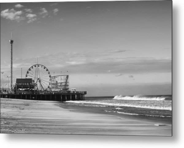 Funtown Pier Seaside Heights New Jersey  Metal Print