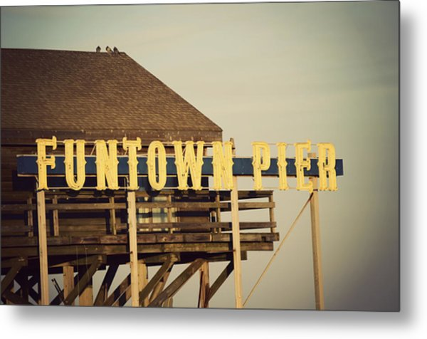Funtown Vintage Metal Print