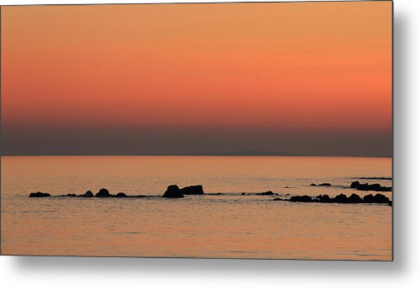 Furbo Beach Sunset Metal Print by Peter Skelton