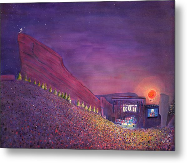 Furthur Red Rocks Equinox Metal Print