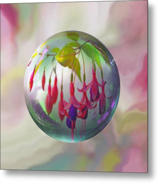Fuschia Say Metal Print