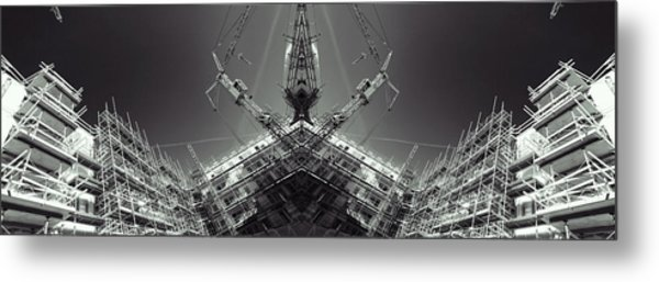 Futuristic Construction And Industry Metal Print