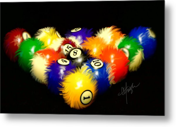 Fuzzy Billiards Metal Print